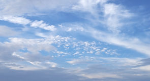 Nice blue sky with clouds Royalty Free Stock Photos