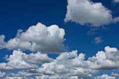 Nice blue sky with clouds formation Royalty Free Stock Photos