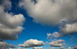 Nice blue sky with clouds formation Royalty Free Stock Image