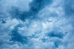 Nice blue stormy clouds. Before on a storm stock images