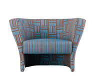 Nice blue stripe armchair Royalty Free Stock Photos