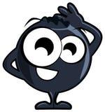 NIce blueberry cartoon isolated Stock Images