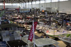 Nice Boat expo in modern City Dallas Texas. Nice winter boat expo in modern city Dallas TX 2017 Royalty Free Stock Photo