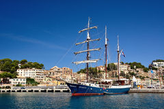 Nice boat in Puerto de Soller Royalty Free Stock Images