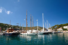Nice boats in Puerto de Soller Stock Images
