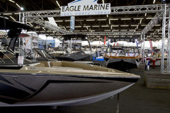 Nice Boats for sale at Boat expo Stock Images