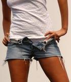 Nice body. Nice girl body on fashion show stock photo