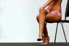 Nice body. Nice girl body on fashion show royalty free stock photos