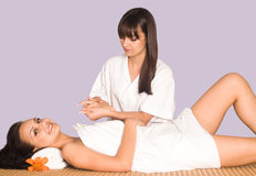 Nice body massage portrait Stock Image