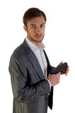 Bodyguard with the weapon Royalty Free Stock Photography