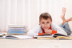 Nice boy with books Stock Image