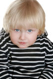 Nice boy in a striped vest Royalty Free Stock Photos