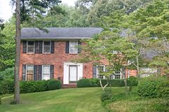 Nice Brick House on Hill Royalty Free Stock Photography