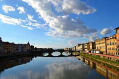 Florence, Italy. Nice bridge in Florence, Italy Stock Photos