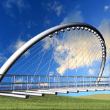 Nice bridge with sky and green gras Royalty Free Stock Images