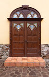 Nice brown door Royalty Free Stock Photos