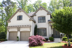 Nice Brown Stucco House Stock Photos