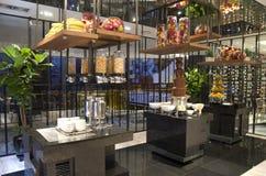 Nice buffet restaurant interiors hotel royalty free stock photo