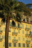 Nice building. Typical building in the city of Nice (French Riviera) at sunset Royalty Free Stock Photo