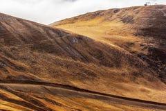 Nice buktade kullar med vägen i förgrunden Royaltyfri Bild
