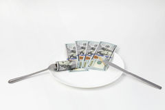 Nice business lunch Stock Photography