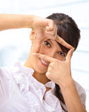 Nice business woman in the office Stock Photography
