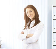 Nice business woman in the office Stock Image