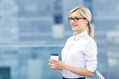 Nice business woman relaxing Stock Photography