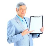Nice businessman at the age Royalty Free Stock Images
