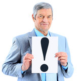 Nice businessman at the age Royalty Free Stock Photography