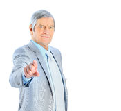 Nice businessman at the age Stock Images