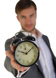 Businessman and alarm clock Stock Photos