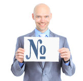 Nice businessman, with the number Stock Image