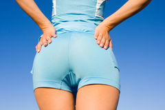 Nice buttocks. On the blue sky background Royalty Free Stock Images