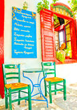Nice cafe Stock Photography