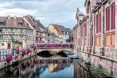 Nice Canal in Strasbourg royalty free stock photos