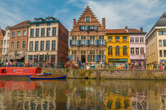 Nice canals of Ghent stock photography