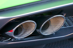 Nice car exhaust pipe. Lovely car exhaust pipe pattern Stock Image