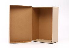 Nice cardboard shoe box Royalty Free Stock Photo