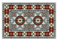 Nice carpet. Vector illustration of a carpet, EPS 10 file Royalty Free Stock Photo