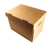 Nice Carton box. On white isolated background Royalty Free Stock Images