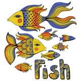 Nice cartoon fishes set. Vector image. Stock Image