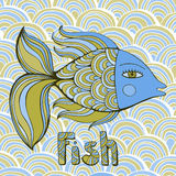 Nice cartoon fishes set. Vector image. Stock Photography