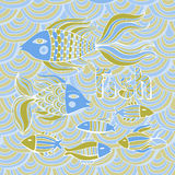 Nice cartoon fishes set. Vector image. Royalty Free Stock Images