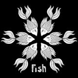 Nice cartoon fishes set. Vector image. Royalty Free Stock Photo