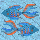 Nice cartoon fishes set. Vector image. Cute cartoon fishes set. Vector image royalty free illustration