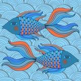 Nice cartoon fishes set. Vector image. Cute cartoon  fishes set. Vector image Royalty Free Stock Photography