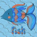 Nice cartoon fishes set. Vector image. Cute cartoon  fishes set. Vector image Royalty Free Stock Images