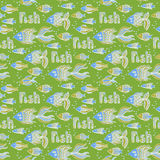 Nice cartoon fishes set. Vector seamless pattern. Cute cartoon fishes set. Vector seamless pattern Royalty Free Stock Photography