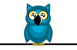 Nice cartoon owl isolated Stock Image